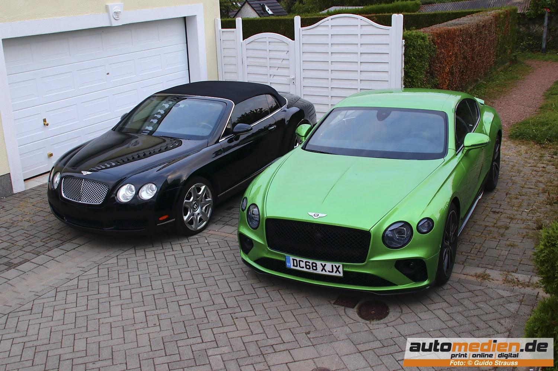 Bentley Continental GT in Apple Green und sein Vorgängermodell